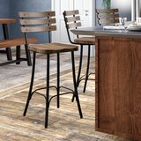 Shanta Bar & Counter Swivel Stool by 17 Stories