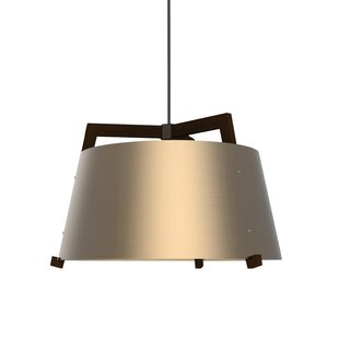 Ignis 1-Light LED Cone Pendant by Cerno
