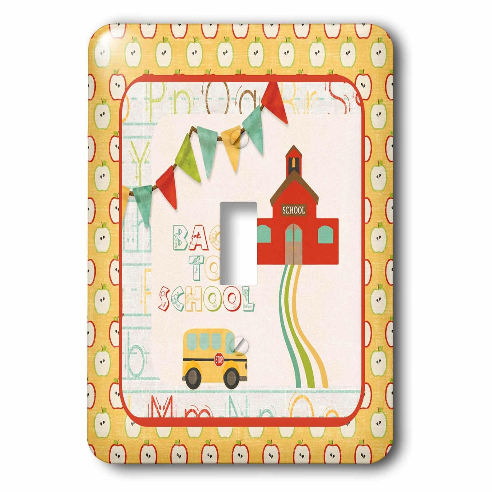 3drose School House 1 Gang Toggle Light Switch Wall Plate Wayfair