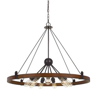 Baity 9-Light Wagon Wheel Chandelier by Williston Forge
