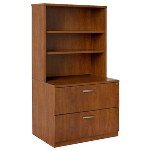 Lateral File Hutch 2-Drawer Vertical Filing Cabinet