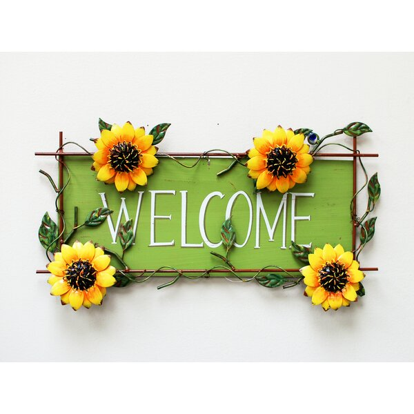 Superior AttractionDesignHome Sunflower Welcome Sign Wall Décor U0026 Reviews | Wayfair Part 21