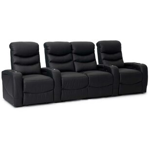 Orren Ellis Leather Home Theater Configurable Seating