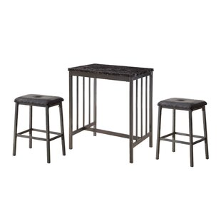 Mizpah 3 Piece Counter Height Dining Set