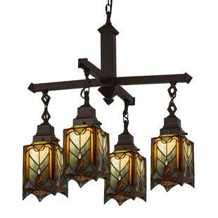 Meyda Tiffany Cottage Mission 4-Light Shaded Chandelier