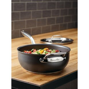 Thermal Pro™ 4-qt. Hard-Anodized Non-Stick Saucier with Lid