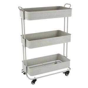 Caroline Metal Rolling Storage Bar Cart b..