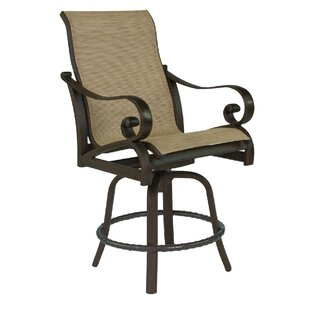 Leona Veracruz Sling Swivel Patio Bar Stool