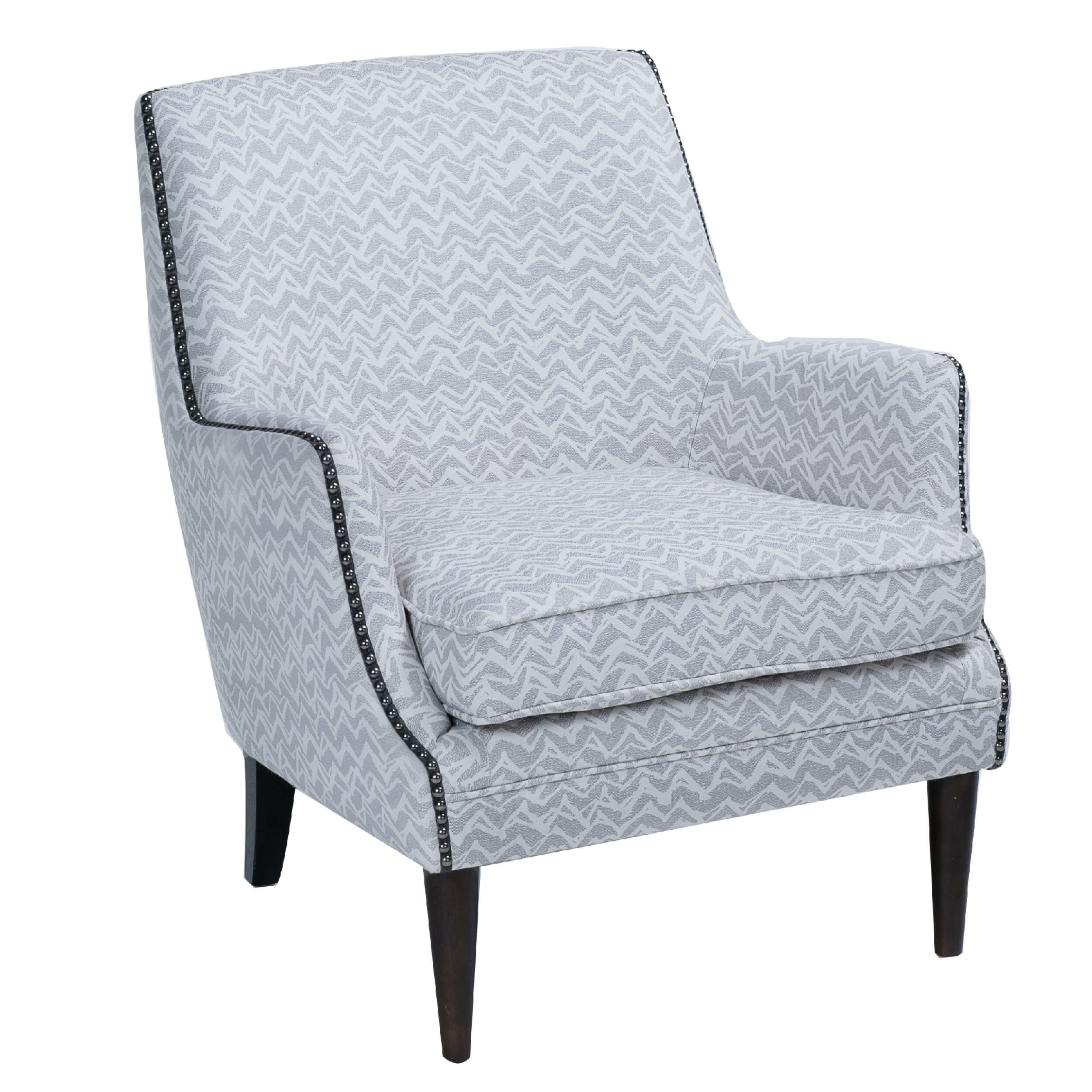 Enjoyable High Back Accent Chair With Patterned Fabric Upholstery Grey And Brown Dailytribune Chair Design For Home Dailytribuneorg