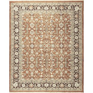 Clearance One-of-a-Kind Sumak Hand-Knotted Wool Rust/Aubergine Area Rug By Bokara Rug Co., Inc.