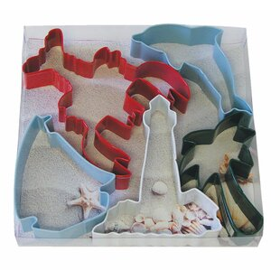 5 Piece Beach Cookie Cutter Set