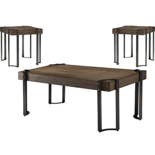 Alijah 3 Piece Coffee Table Set