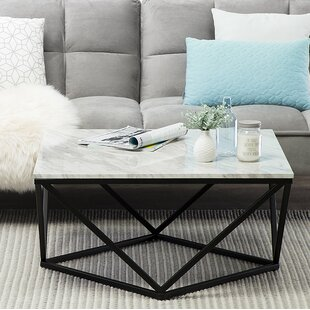 Wrought Studio Petrarch Marble Effect Coffee Table