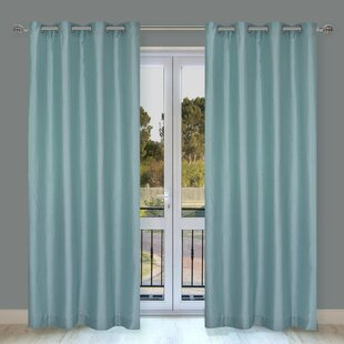 Silkana Solid Semi-Sheer Grommet Curtain Panels (Set of 2) by LJ Home