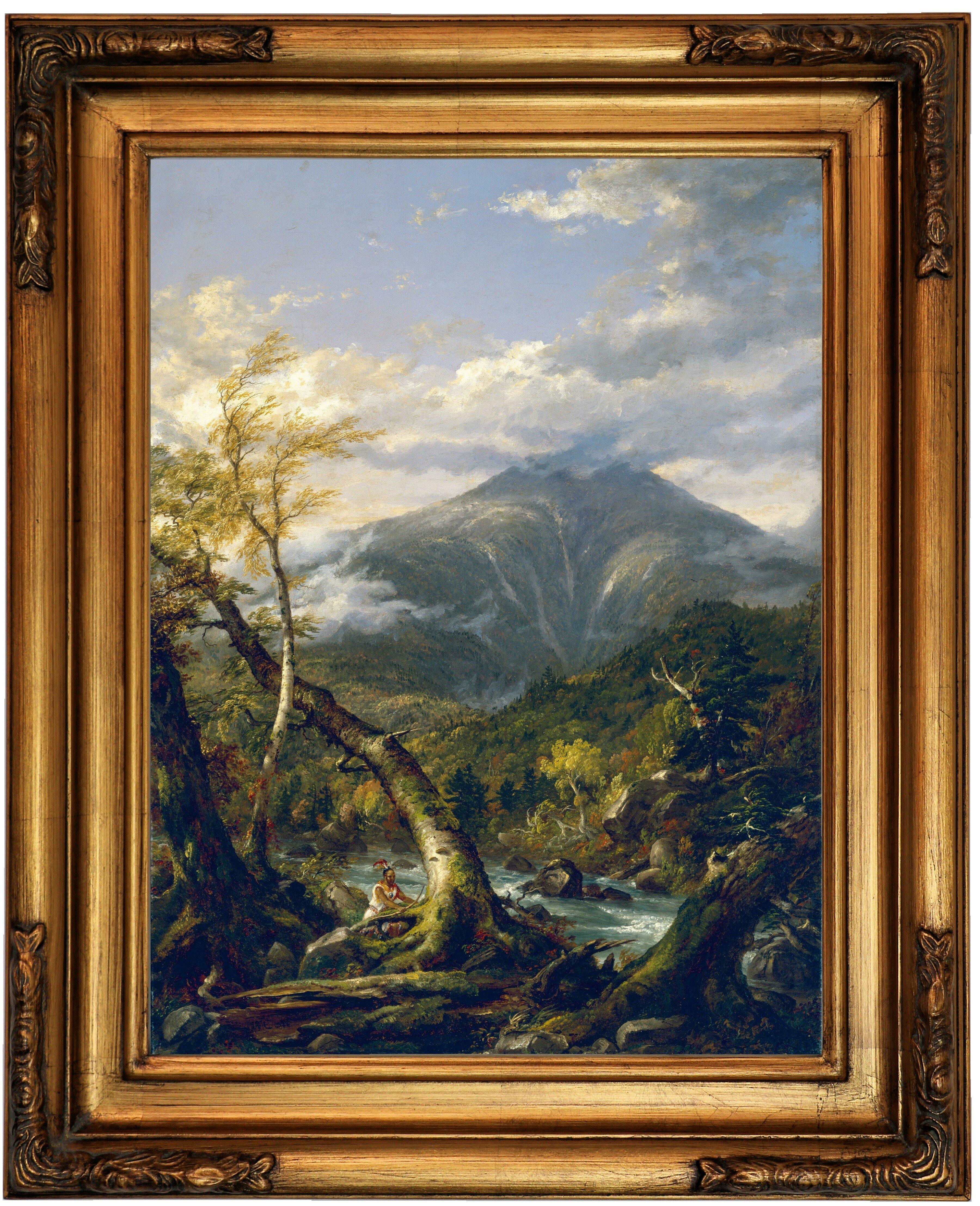 Astoria Grand Indian Pass 1847 Framed Oil Painting Print On Canvas Wayfair