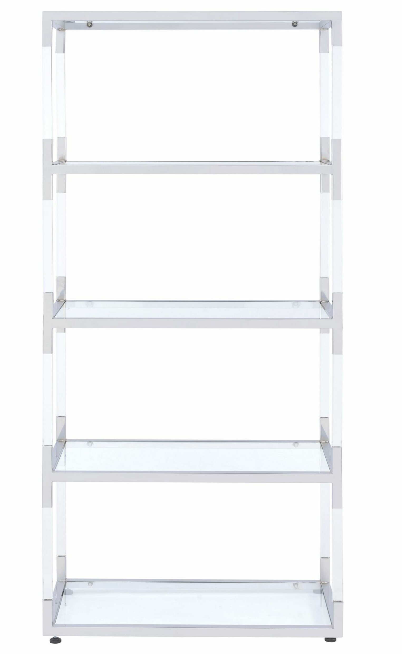 Southmead Metal And Acrylic Framed Etagere Bookcase