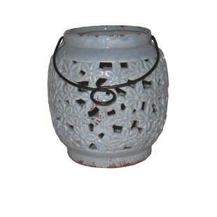 Affordable Ceramic Lantern By Bungalow Rose