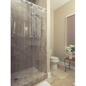 clear shower curtain with design. Venice Clear Heavy Duty 10 Gauge Vinyl Shower Curtain Curtains You ll Love  Wayfair