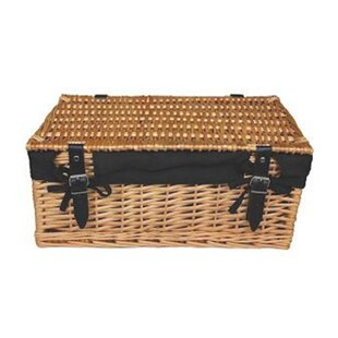Cotton Lined Large Wicker Picnic Basket By Brambly Cottage