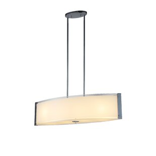 Reviews Bailey III 4-Light Kitchen Island Pendant By Ove Decors