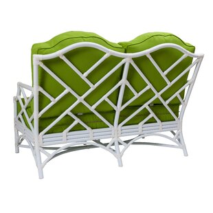 David Francis Furniture Chippendale Loveseat with Cushions