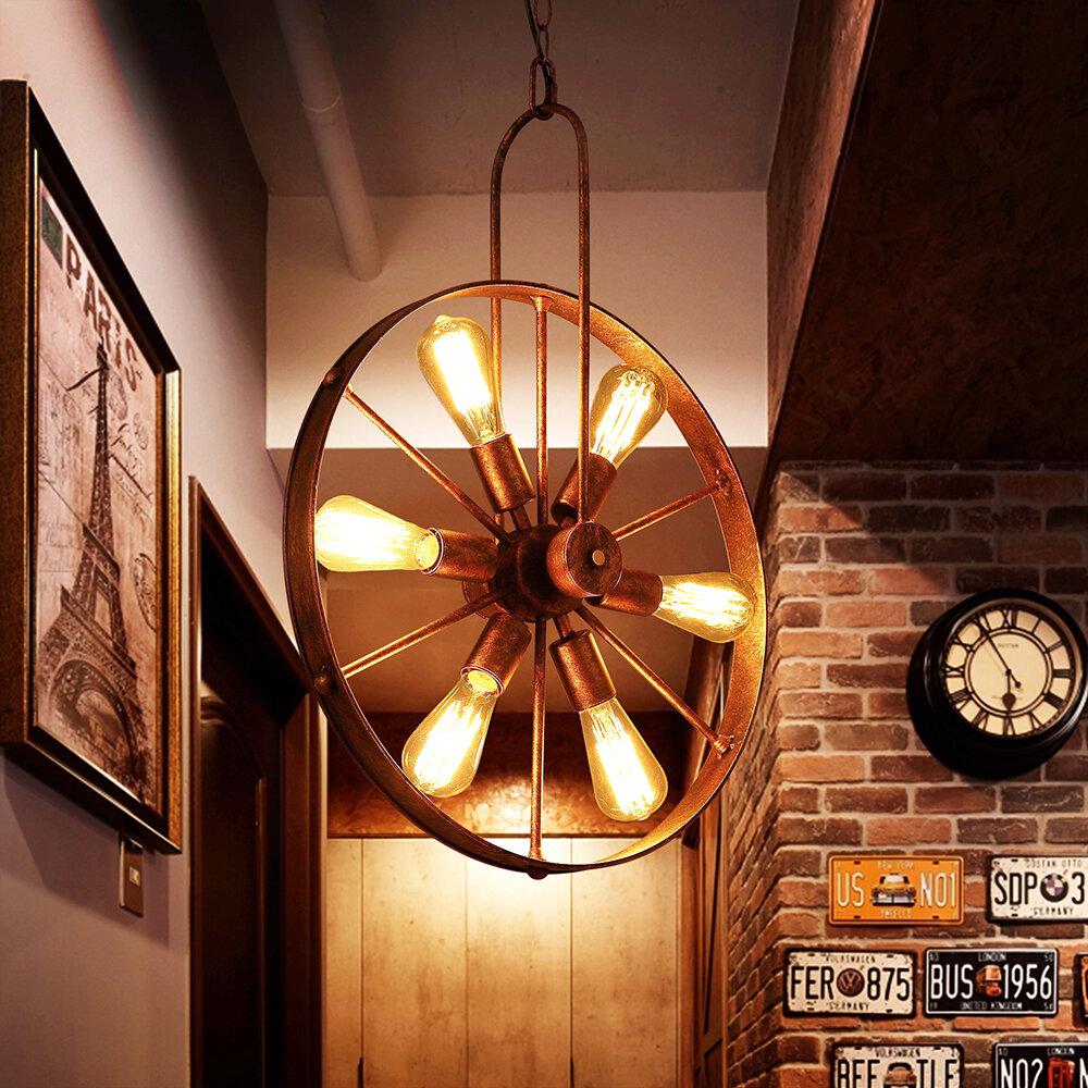 Williston forge gillock 6 light geometric pendant reviews wayfair