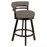 Burns Swivel Bar & Counter Stool by Latitude Run
