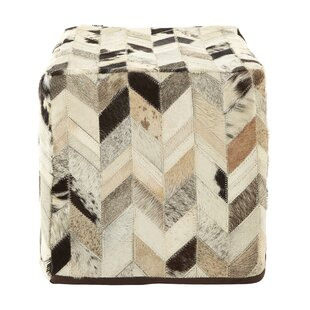 Degnan Leather Pouffe By Union Rustic