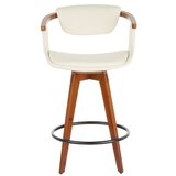 Ploeger Swivel Bamboo 25.5 Counter Stool by Wrought Studio™