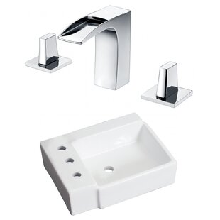 Purchase Ceramic Rectangular Bathroom Sink with Faucet By American Imaginations