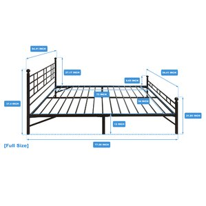 model h platform bed frame - Full Sized Bed Frames
