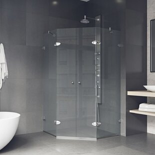 Shower 46.63 x 73.375 Neo-Angle Pivot Shower enclosure