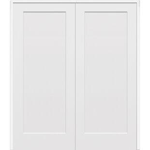Paneled Solid Manufactured Wood Primed Molded Interior Standard Door  sc 1 st  Wayfair & Craftsman Style Interior Doors | Wayfair