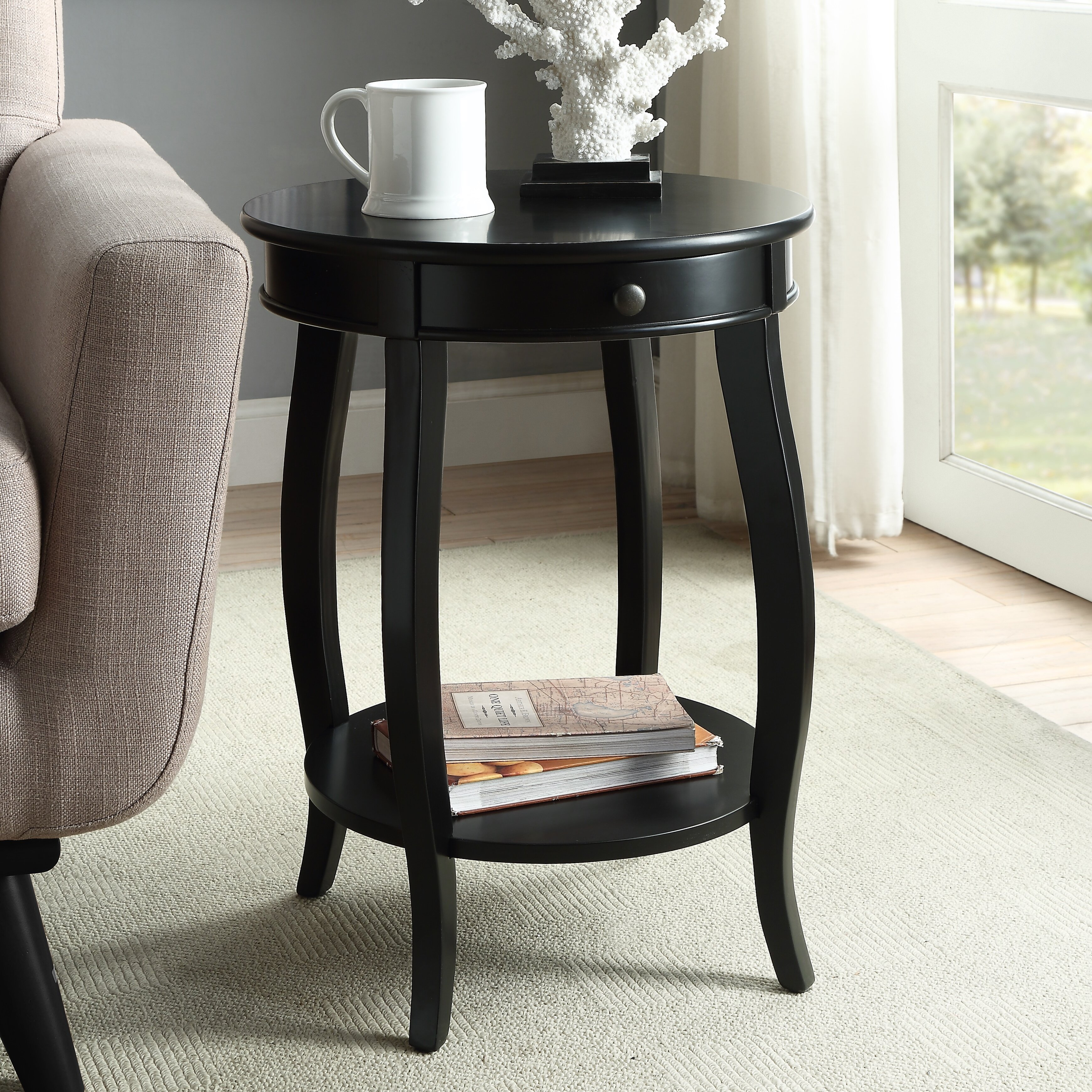 Wayfair Black Round End Side Tables You Ll Love In 2021