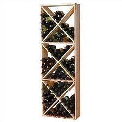 Premium Redwood 132 Bottle Floor Wine Rac..