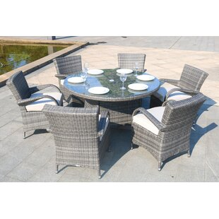 Brayden Studio Medea 7 Piece Dining Set with Cushions