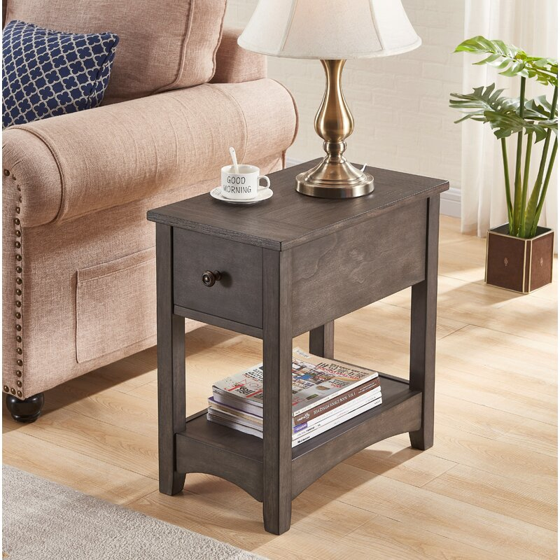 Canora Grey Salas End Table With Storage Reviews Wayfair