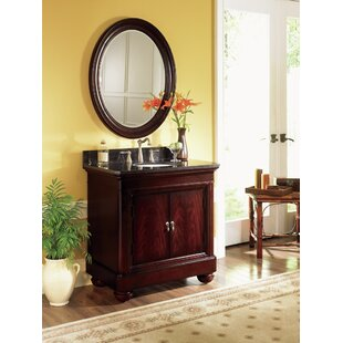 Sereno 36 Single Bathroom Vanity Set with Mirror by World Menagerie