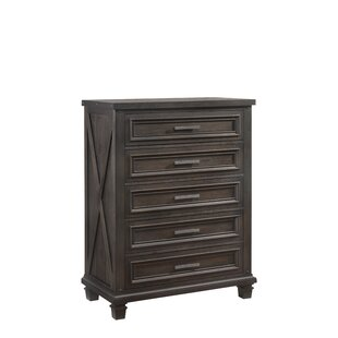 Gracie Oaks Cormac 5 Drawers Chest