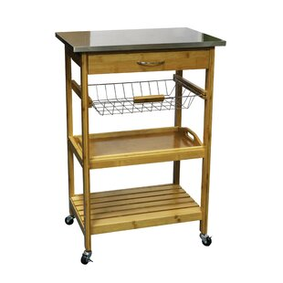 Bali Kitchen Trolley With Stainless Steel Top By August Grove