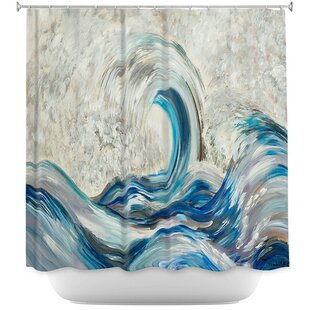 Wave Rolling II Shower Curtain ByEast Urban Home