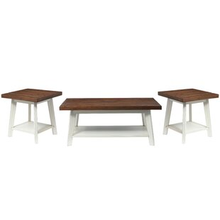 Funke 3 Piece Coffee Table Set by August Grove 2019 Sale