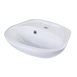 Best Reviews Ceramic 18 Wall Mount Bathroom Sink with Overflow By Alfi Brand