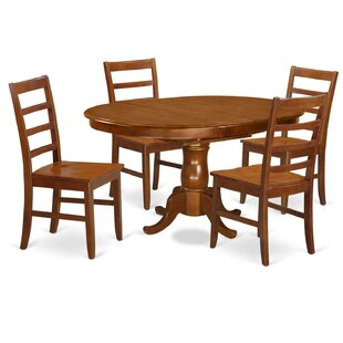 Portland 5 Piece Extendable Dining Set East West Furniture