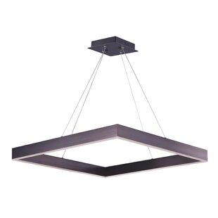 Acamar 2-Light LED Geometric Chandelier by Orren Ellis