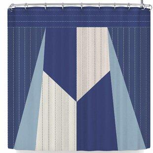 AFE Images Afe Pinstripes Single Shower Curtain
