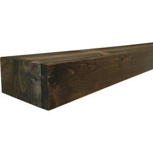 Garvon Floating Shelf Solid Wood Handmade Rustic Style Shelf