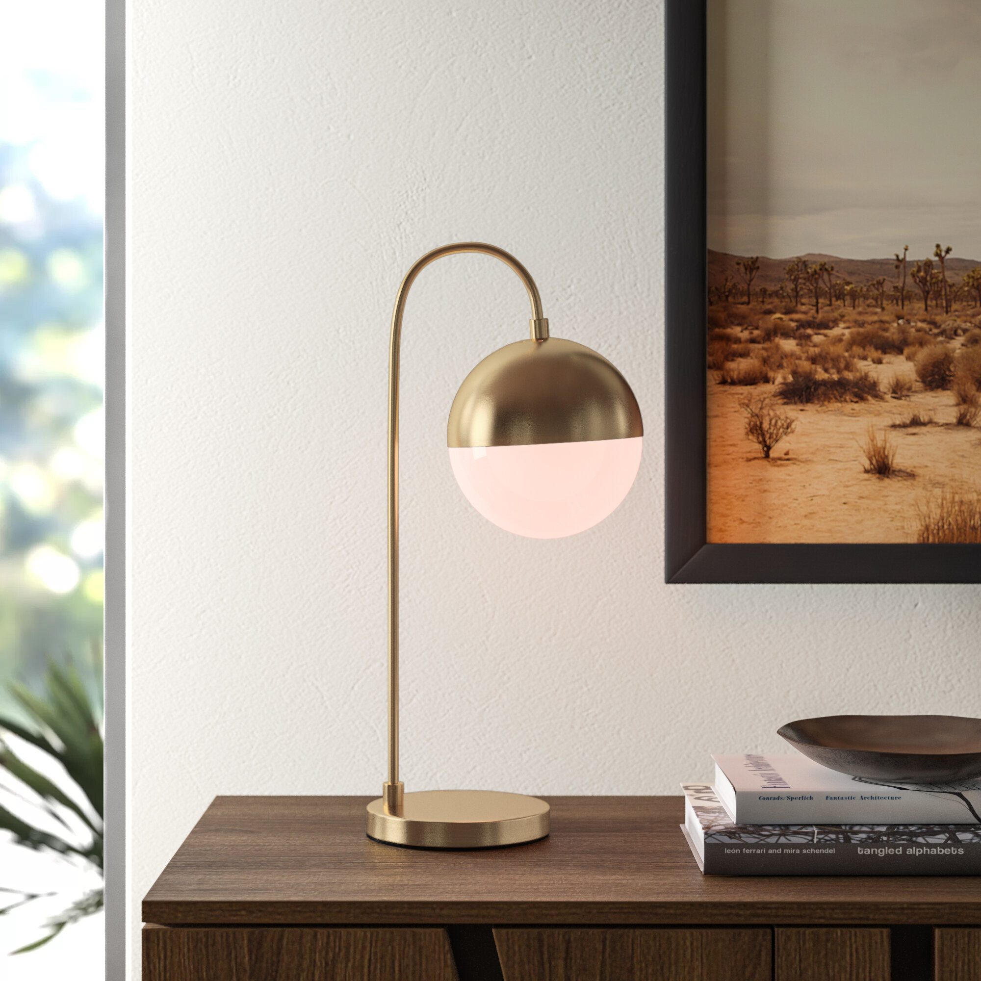 Allmodern Jaquelin 20 5 Desk Lamp Reviews Wayfair