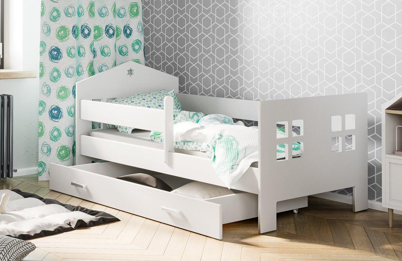 Kinderbett Lucia Mit Matratze Und Schublade 80 X 160 Cm