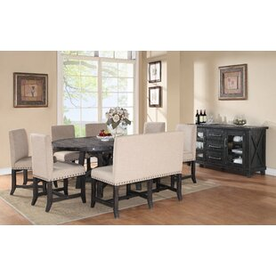 Gaudette 8 Piece Solid Wood Dining Set